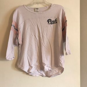 Pink 3/4 sleeve shirt